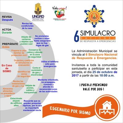 6 Simulaco Nacional de Respuesta a Emergencias