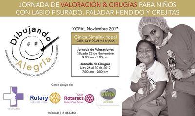 Jornada de valoraciones y cirugías gratuitas para niños y niñas de población vulnerable